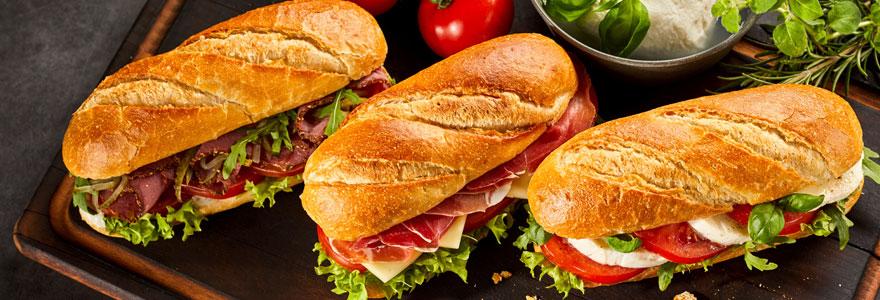 sandwichs de qualité