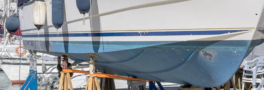 réparations de coques de bateaux